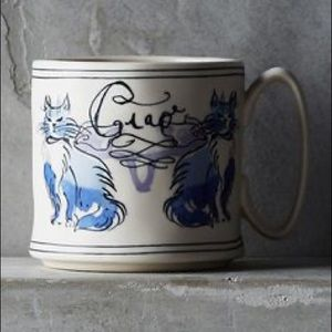 Anthropologie Cat Study Sketchbook Mug NIB